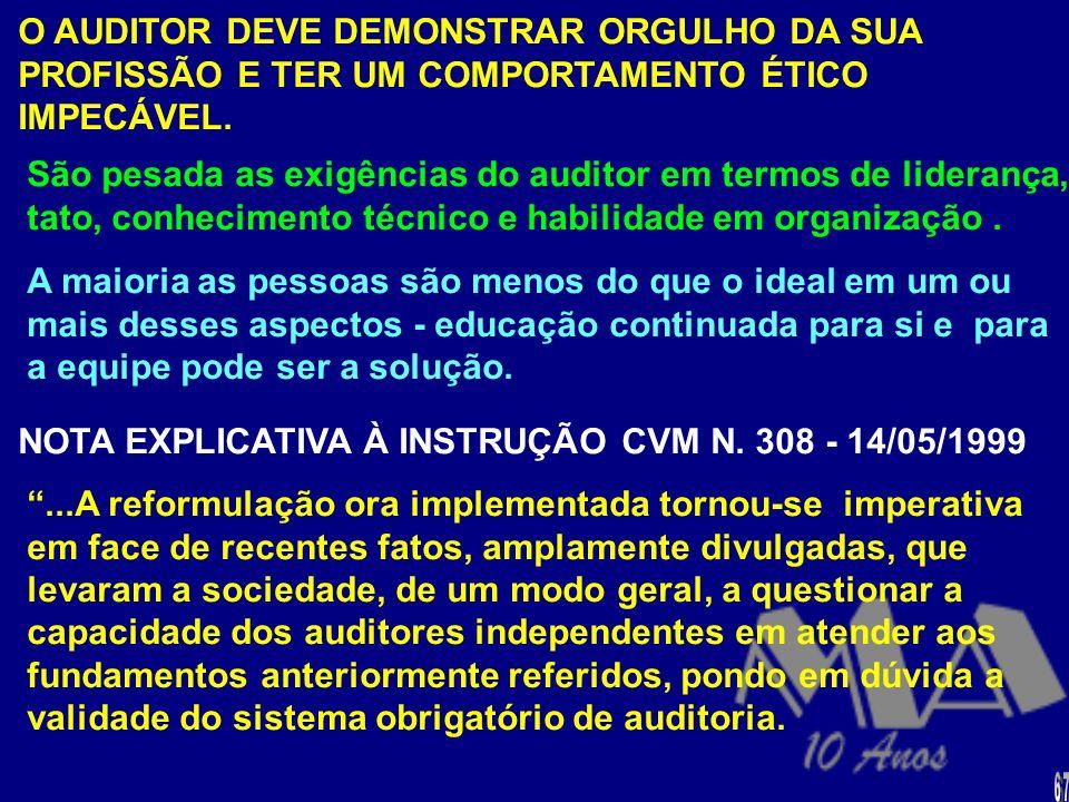 NOTA EXPLICATIVA À INSTRUÇÃO CVM N. 308 - 14/05/1999