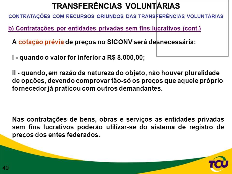 TRANSFERÊNCIAS VOLUNTÁRIAS