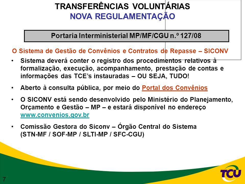 TRANSFERÊNCIAS VOLUNTÁRIAS NOVA REGULAMENTAÇÃO