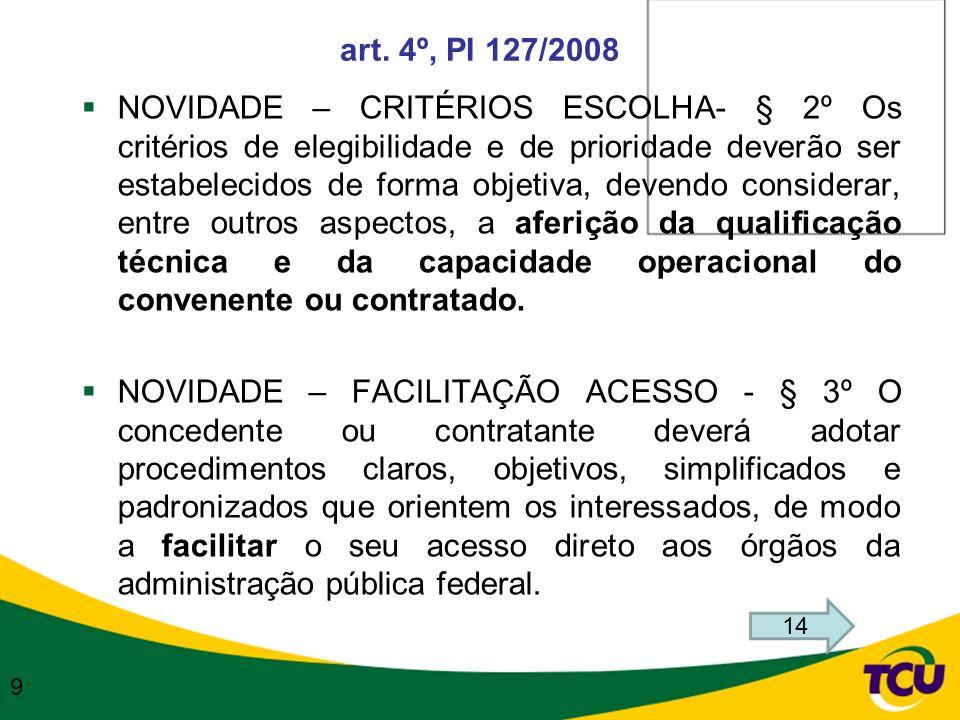 art. 4º, PI 127/2008