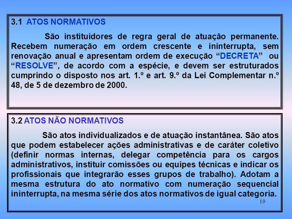 3.1 ATOS NORMATIVOS