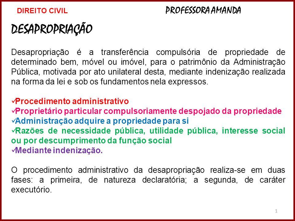 DIREITO CIVIL PROFESSORA AMANDA