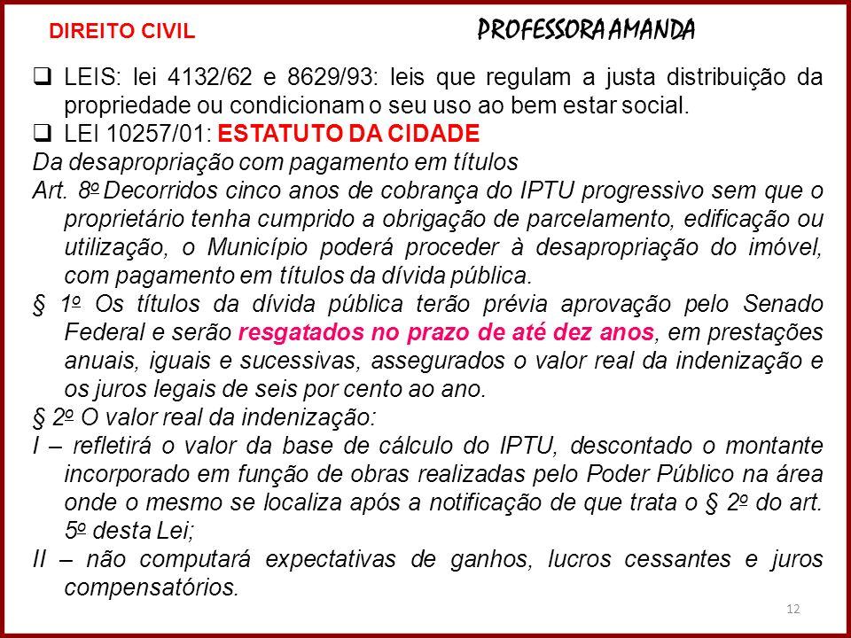 LEI 10257/01: ESTATUTO DA CIDADE