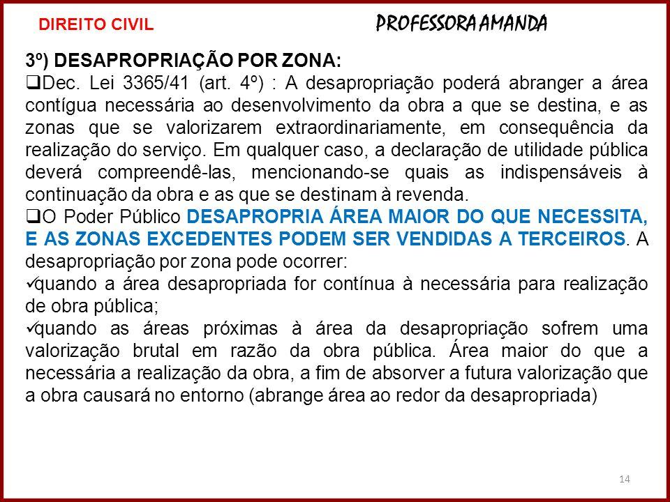 3º) DESAPROPRIAÇÃO POR ZONA: