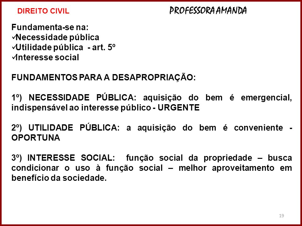 Utilidade pública - art. 5º Interesse social