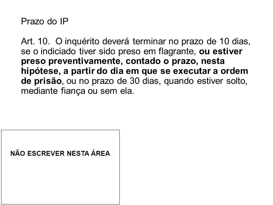 Prazo do IP