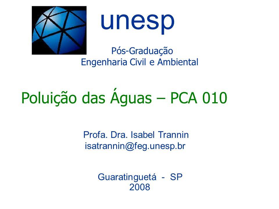 unesp Poluição das Águas – PCA 010 Pós-Graduação