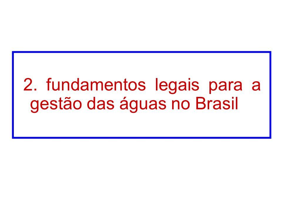 2. fundamentos legais para a gestão das águas no Brasil