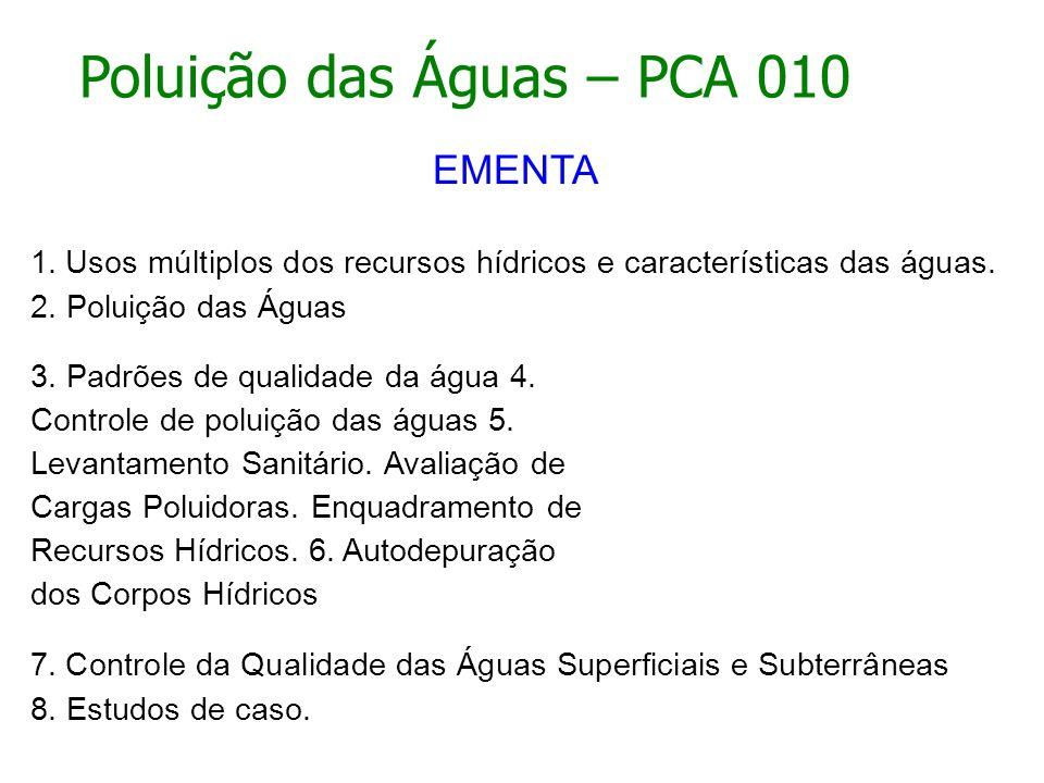 Poluição das Águas – PCA 010