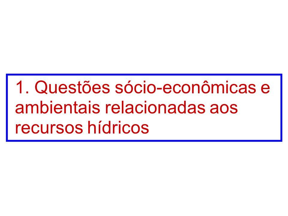 1. Questões sócio-econômicas e ambientais relacionadas aos recursos hídricos