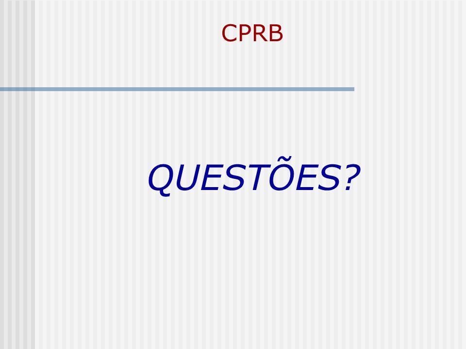 CPRB QUESTÕES