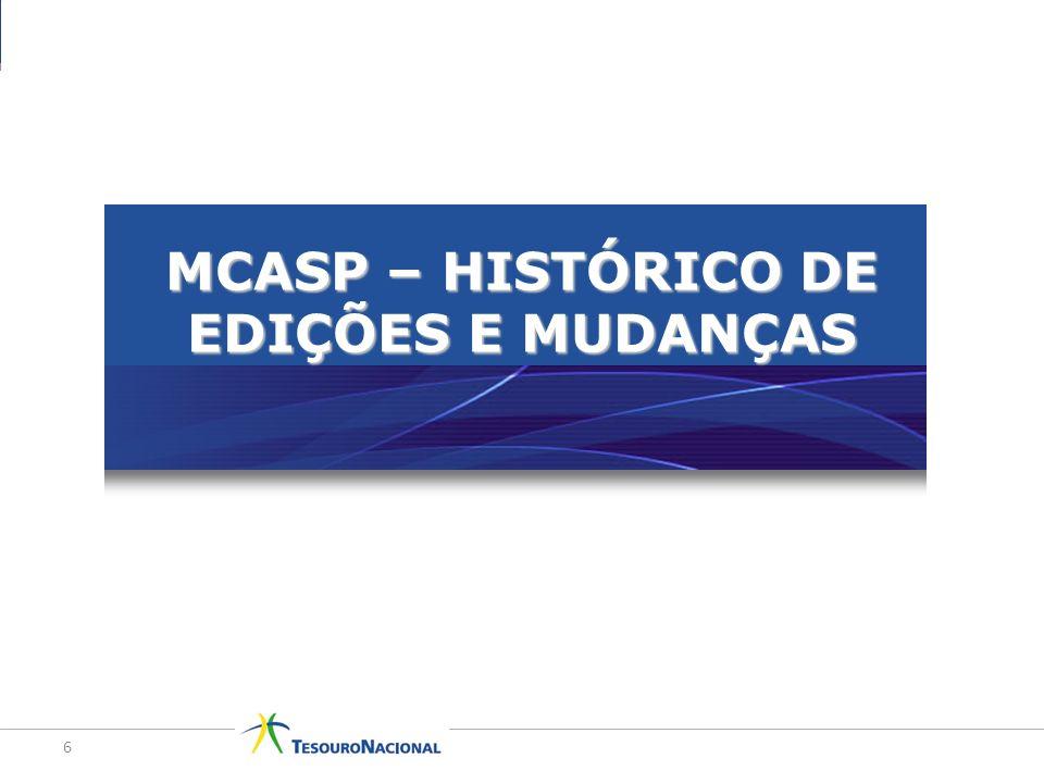 MCASP – HISTÓRICO DE EDIÇÕES E MUDANÇAS
