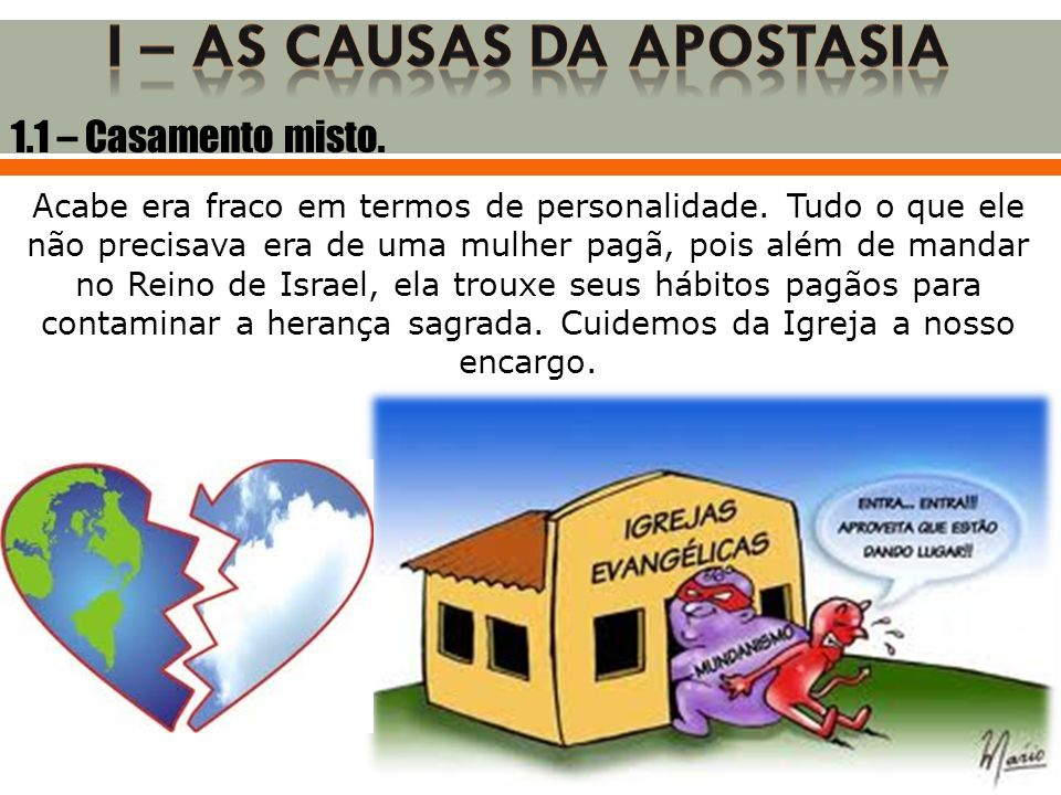 I – as causas da apostasia