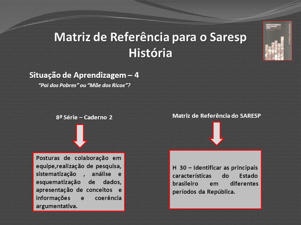 Matriz de Referência para o Saresp História