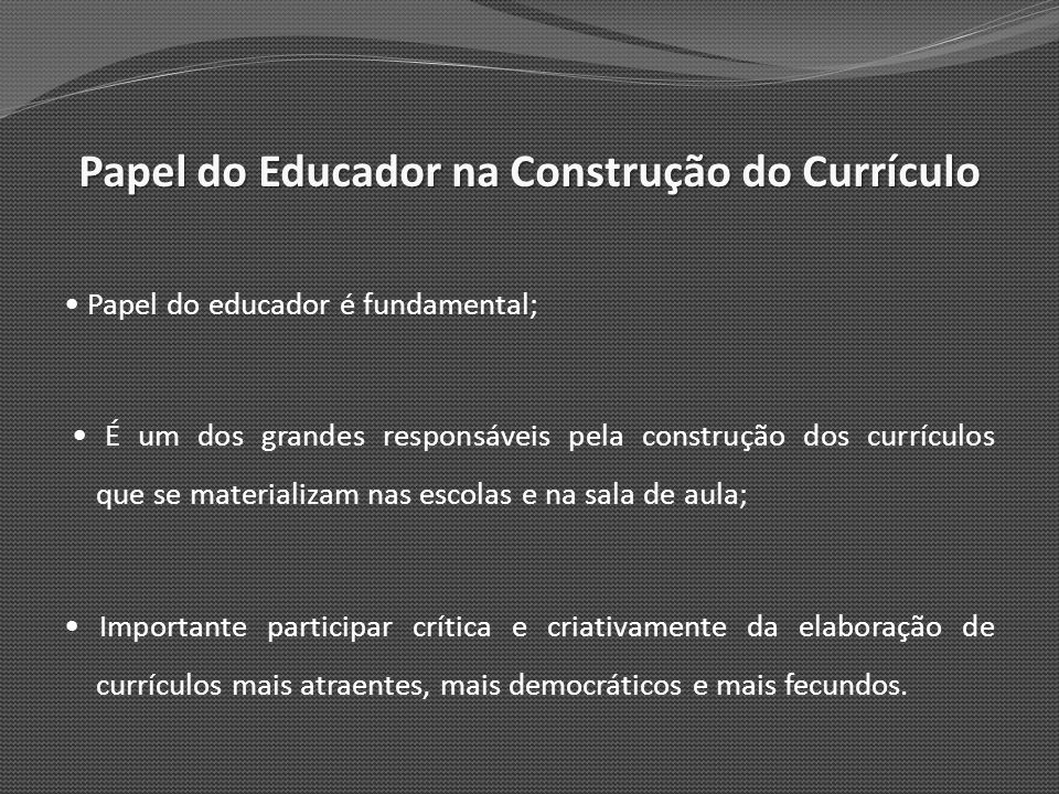 Papel do Educador na Construção do Currículo