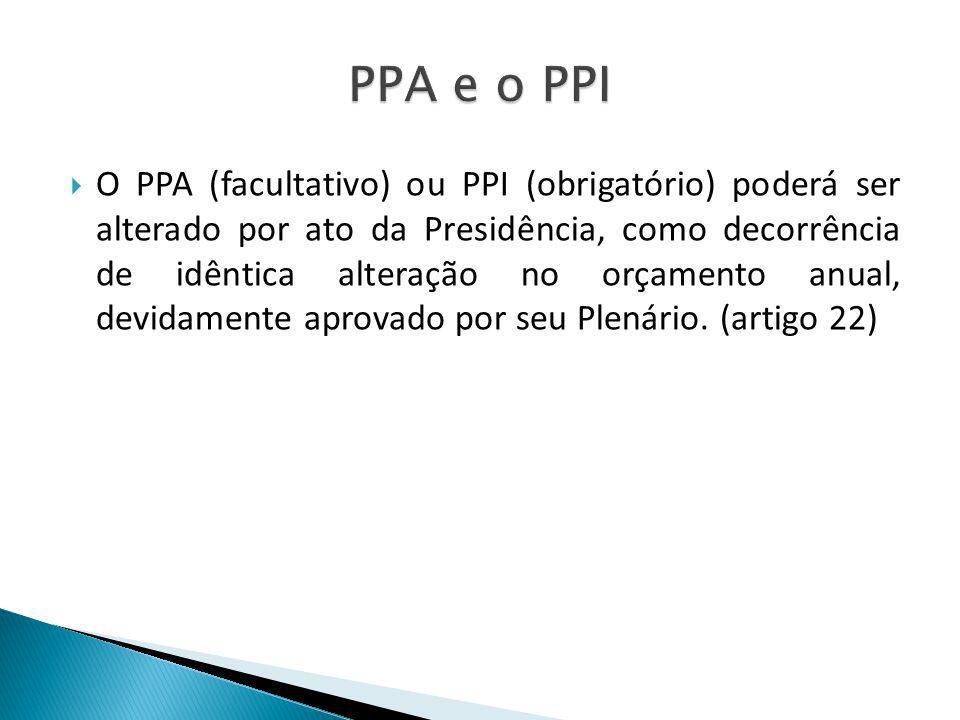 PPA e o PPI