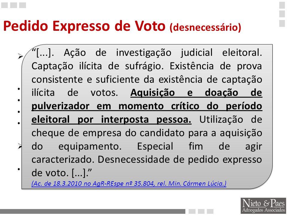 Pedido Expresso de Voto (desnecessário)