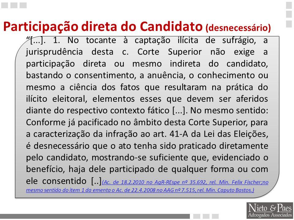 Participação direta do Candidato (desnecessário)