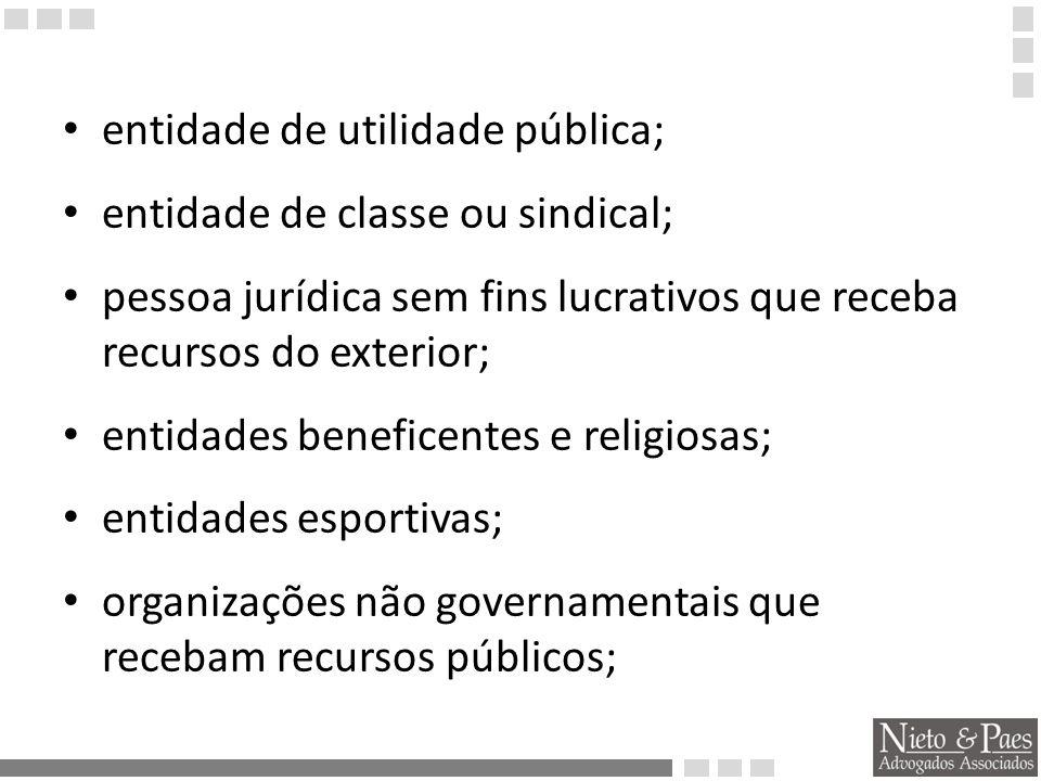 entidade de utilidade pública;