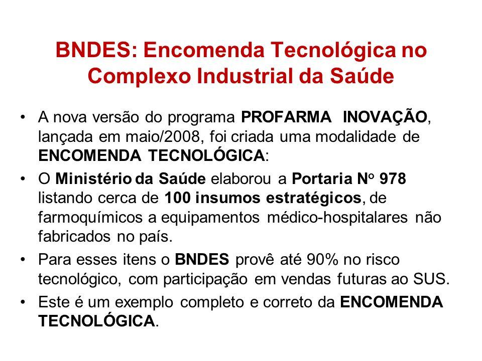 BNDES: Encomenda Tecnológica no Complexo Industrial da Saúde