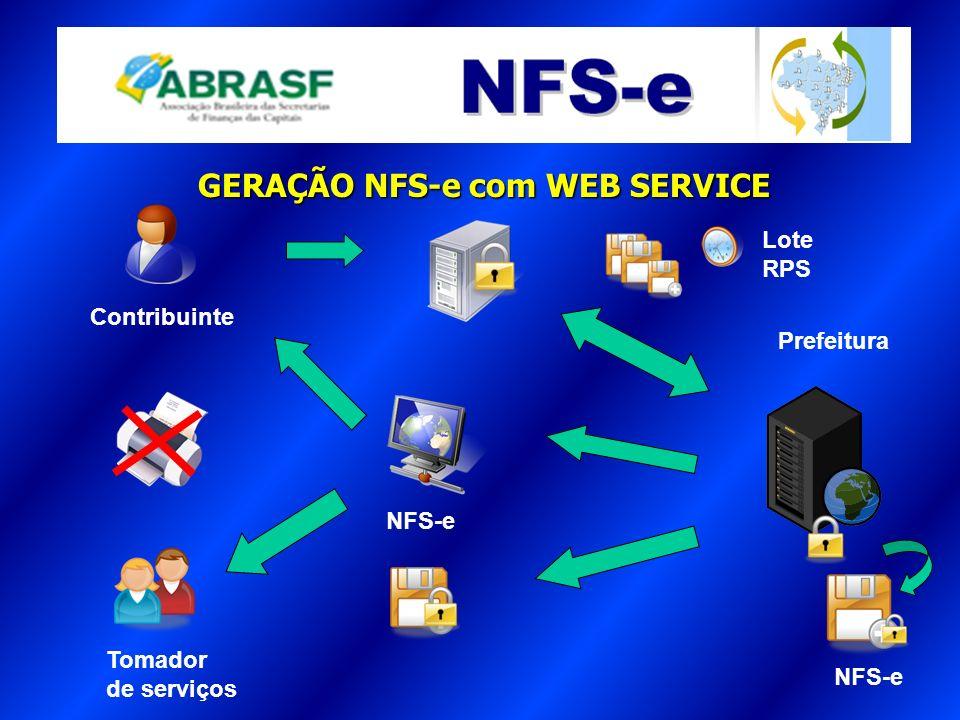 GERAÇÃO NFS-e com WEB SERVICE