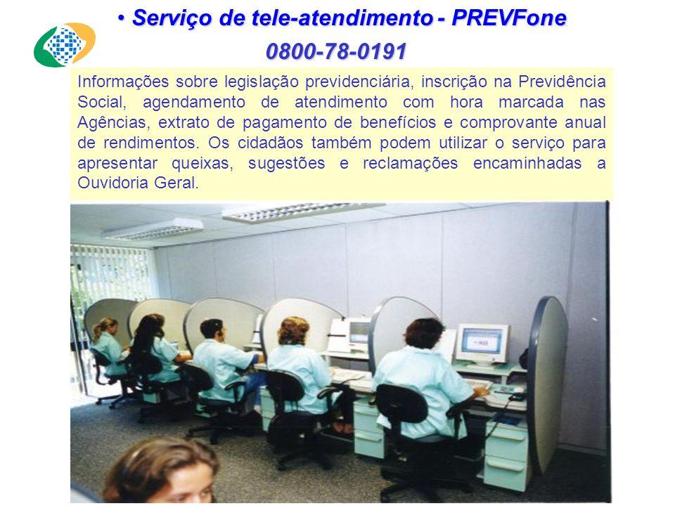 Serviço de tele-atendimento - PREVFone