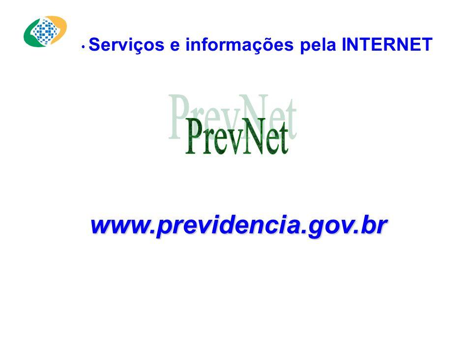 Serviços e informações pela INTERNET