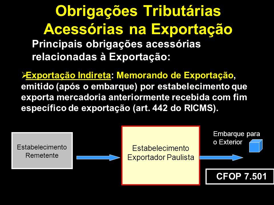 Obrigações Tributárias Acessórias na Exportação