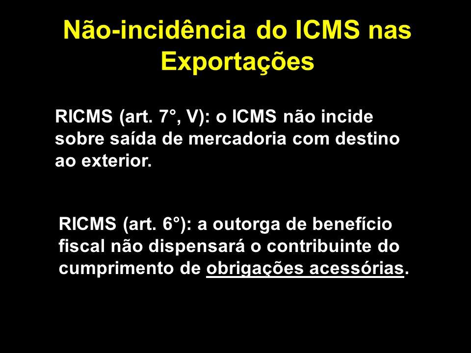 Não-incidência do ICMS nas Exportações