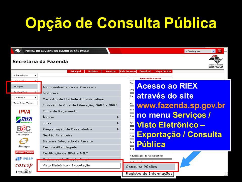 Opção de Consulta Pública