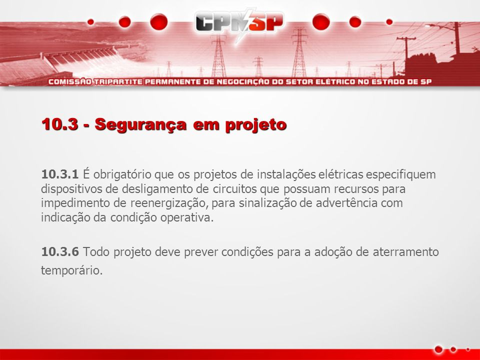 10.3 - Segurança em projeto