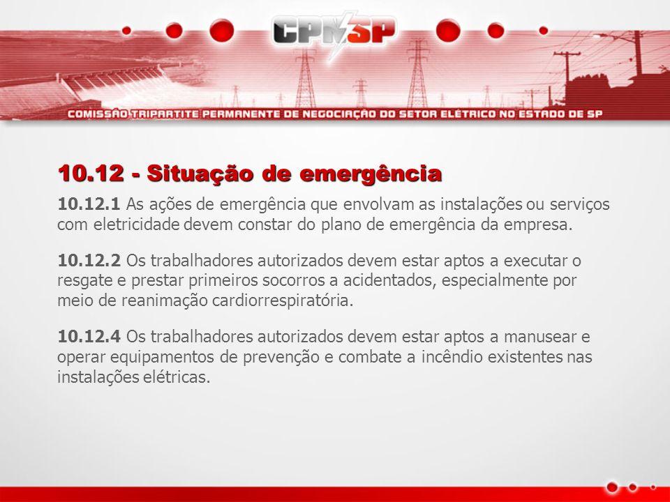 10.12 - Situação de emergência