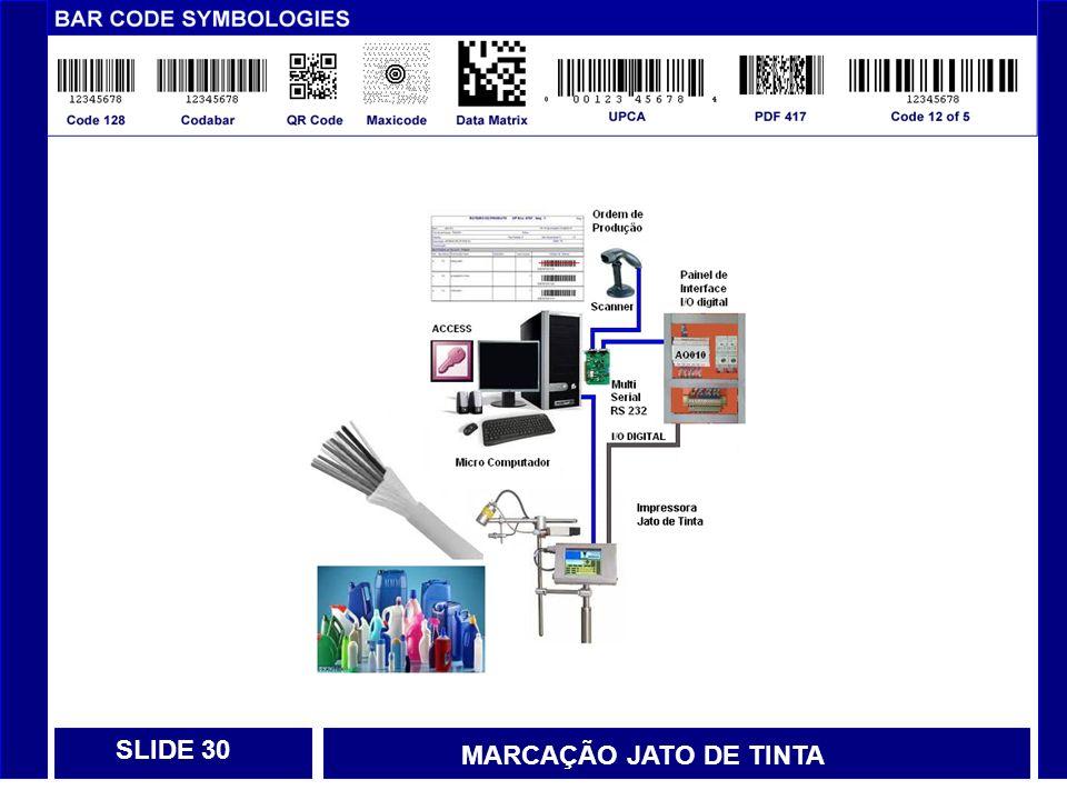 SLIDE 30 MARCAÇÃO JATO DE TINTA