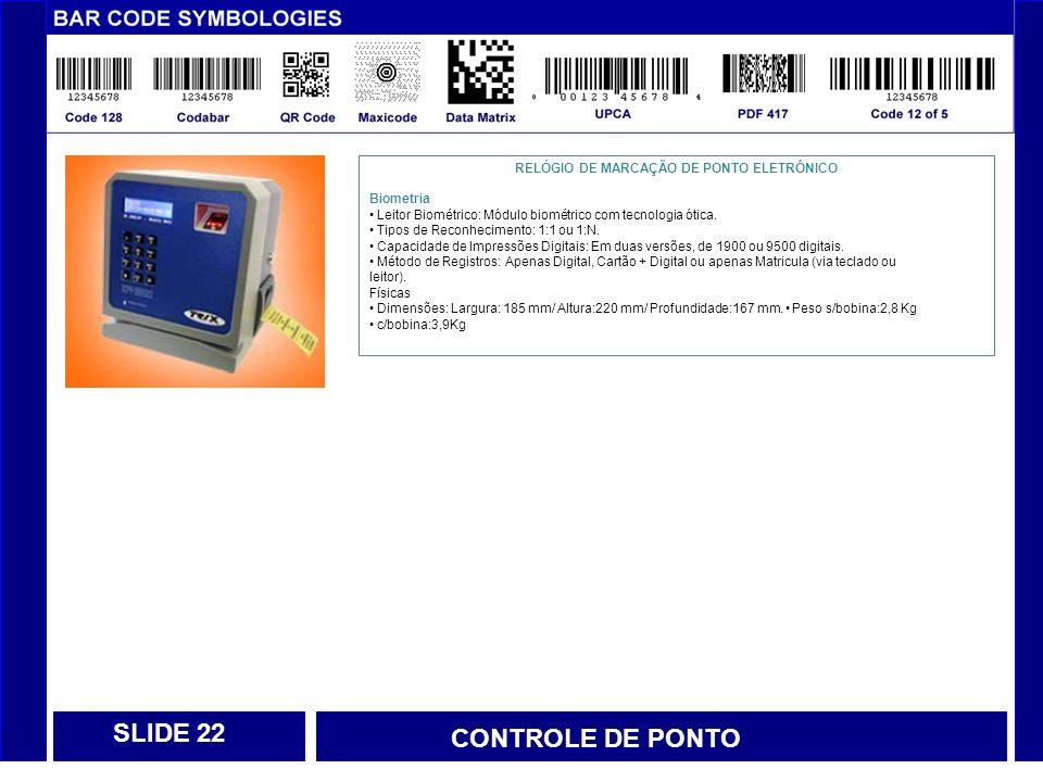 RELÓGIO DE MARCAÇÃO DE PONTO ELETRÔNICO