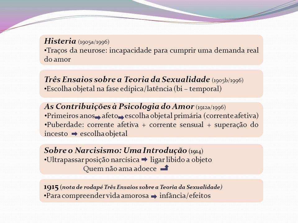 Três Ensaios sobre a Teoria da Sexualidade (1905b/1996)
