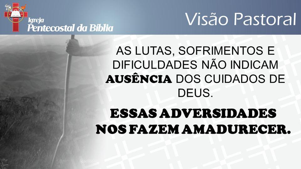 ESSAS ADVERSIDADES NOS FAZEM AMADURECER.