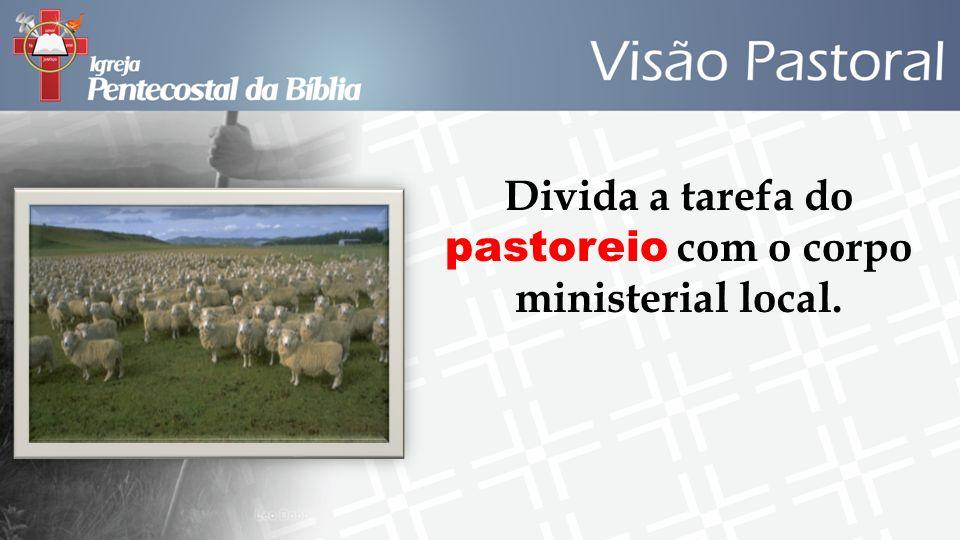 Divida a tarefa do pastoreio com o corpo ministerial local.