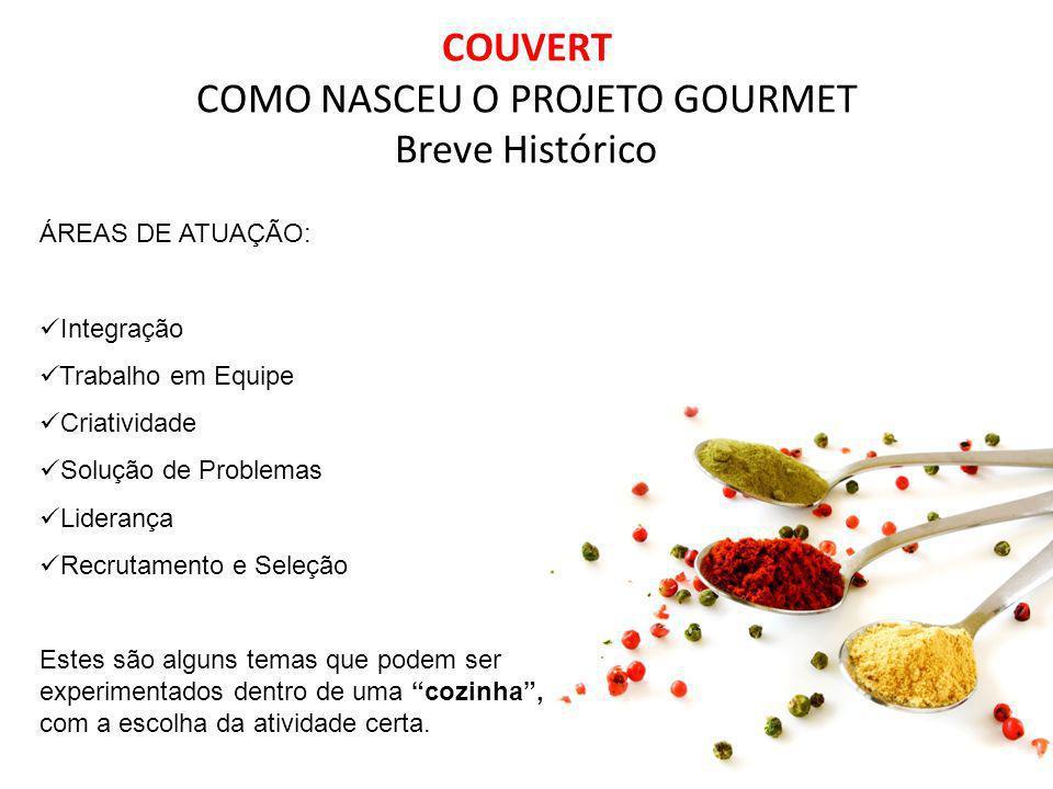 COUVERT COMO NASCEU O PROJETO GOURMET Breve Histórico