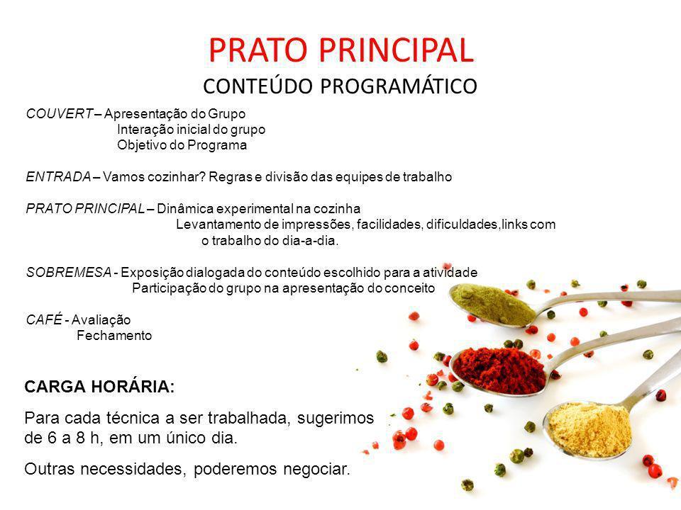PRATO PRINCIPAL CONTEÚDO PROGRAMÁTICO