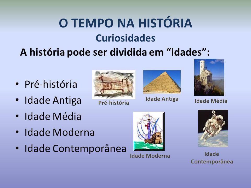 O TEMPO NA HISTÓRIA Curiosidades