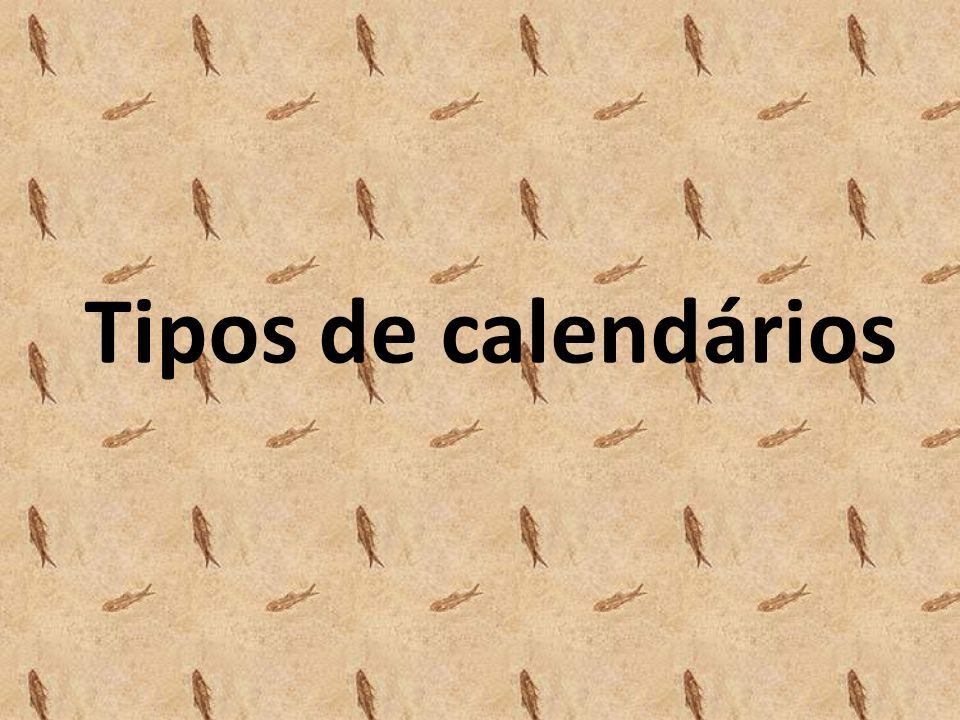 Tipos de calendários