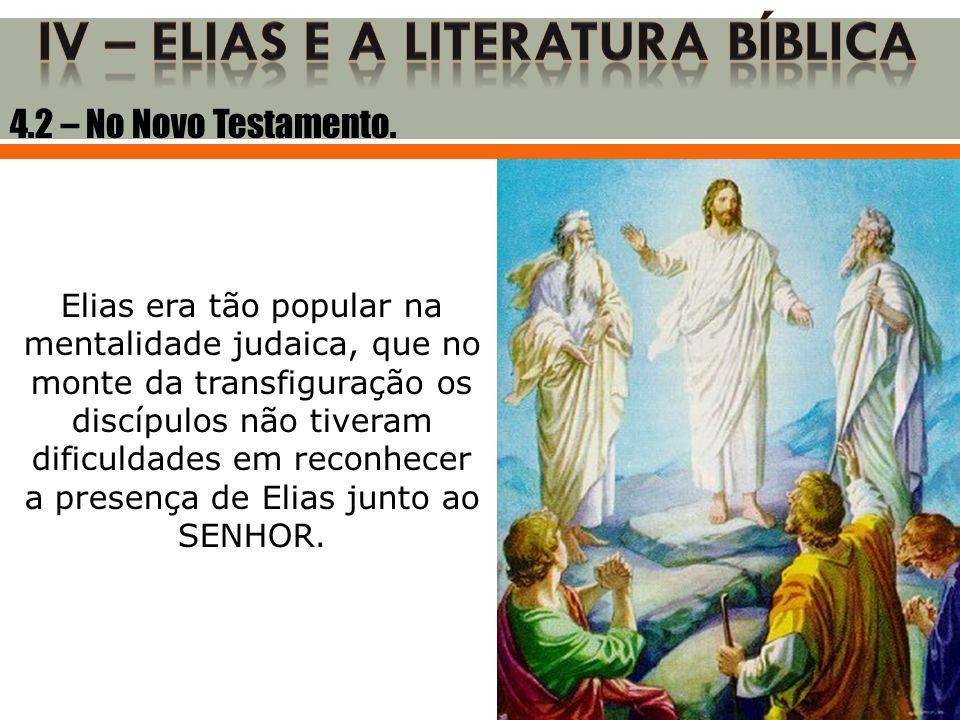 IV – ELIAS E A LITERATURA BÍBLICA