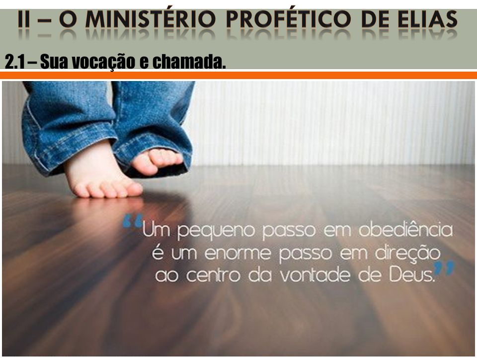 Ii – o ministério profético de elias