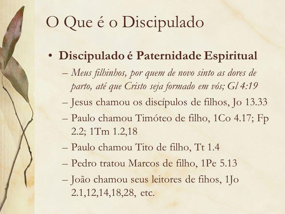 O Que é o Discipulado Discipulado é Paternidade Espiritual