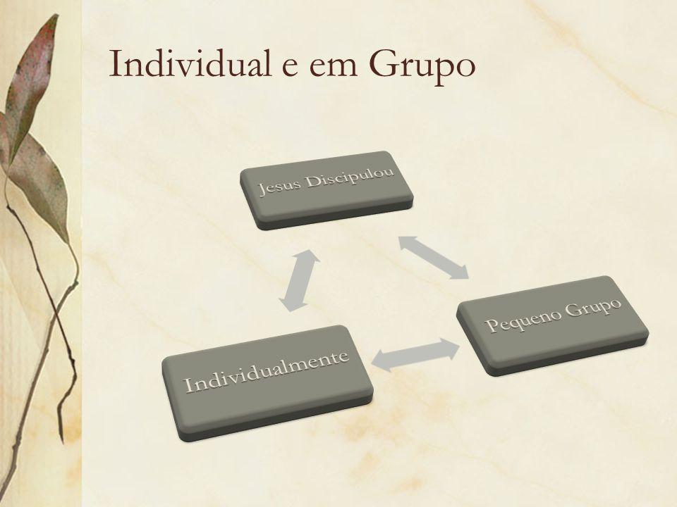Individual e em Grupo Jesus Discipulou Pequeno Grupo Individualmente