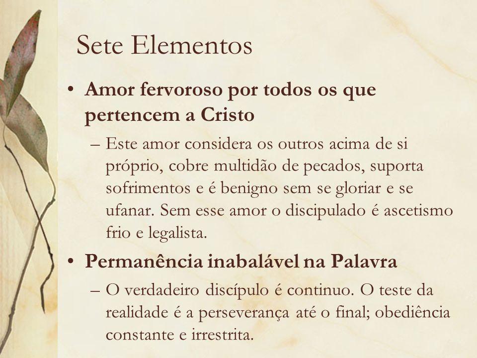 Sete Elementos Amor fervoroso por todos os que pertencem a Cristo