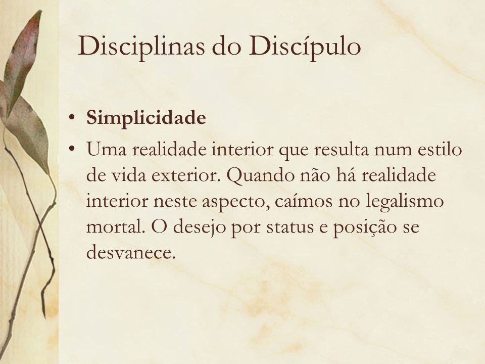 Disciplinas do Discípulo