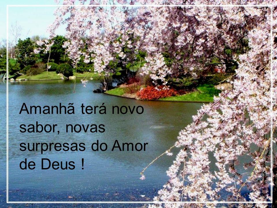 Amanhã terá novo sabor, novas surpresas do Amor de Deus !