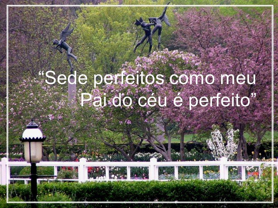 Sede perfeitos como meu Pai do céu é perfeito