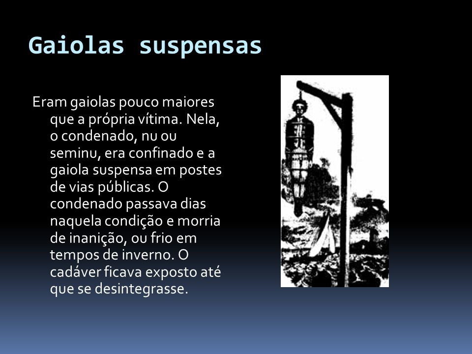 Gaiolas suspensas